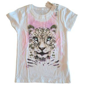 🍒3/$20🍒 PLACE NWT White Leopard Short Sleeve  XS